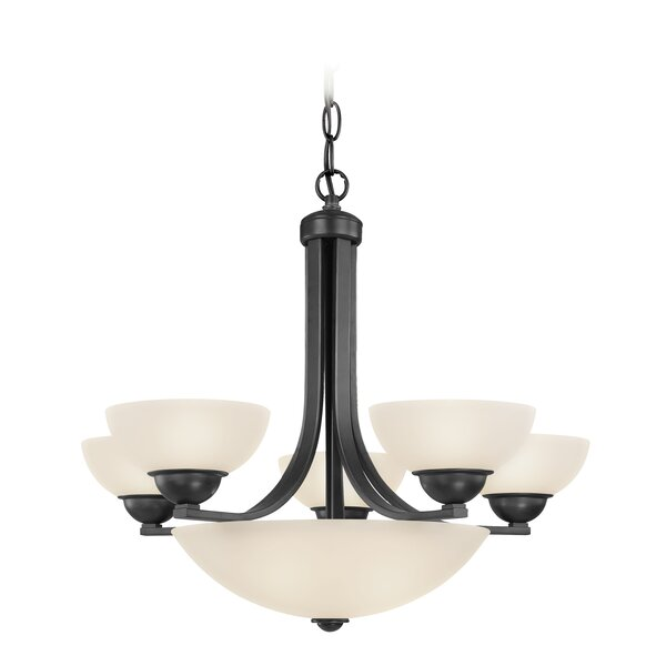 Peluso 5 - Light Shaded Empire Chandelier by Charlton Home Charlton Home