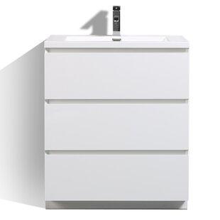 Purchase Riker Free Standing 30 Single Bathroom Vanity Set ByOrren Ellis