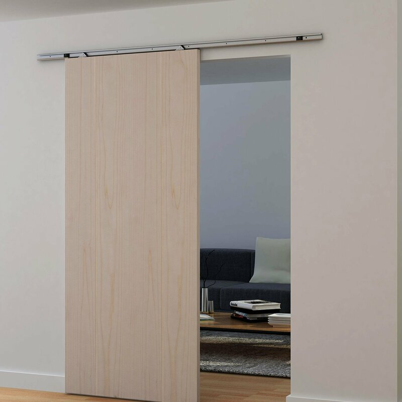 Modern Sliding Barn Closet Door Hardware Track Kit System Unit For Single  Door Accessory