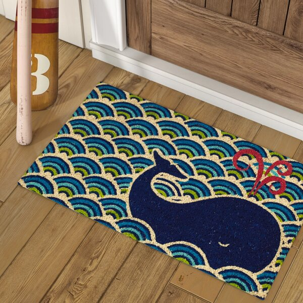Harrietstown Whale Doormat by Longshore Tides