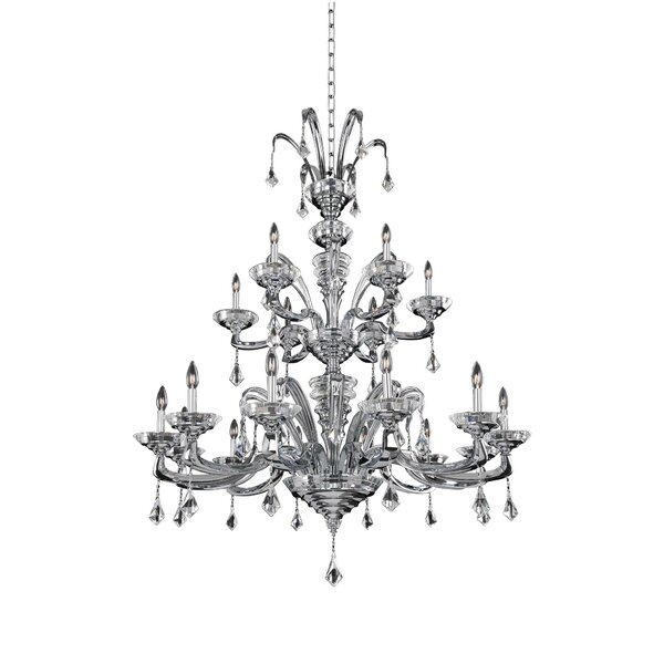 Frederic 18 - Light Candle Style Tiered Chandelier by Rosdorf Park Rosdorf Park