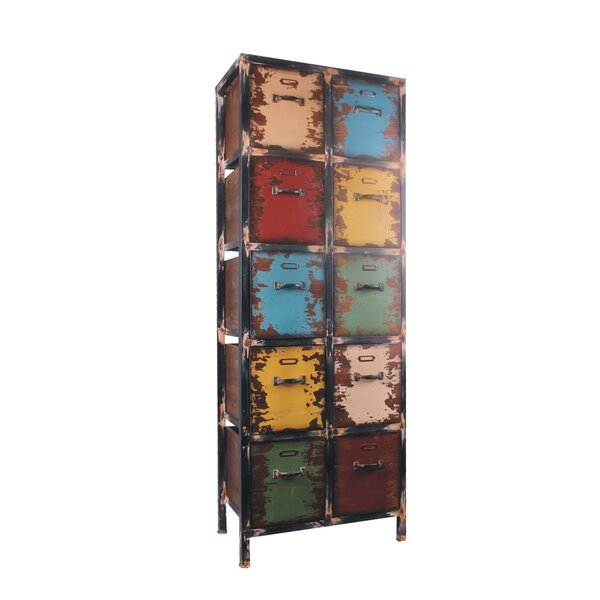 10 Drawer Vertical Accent Chest by Attraction Design Home