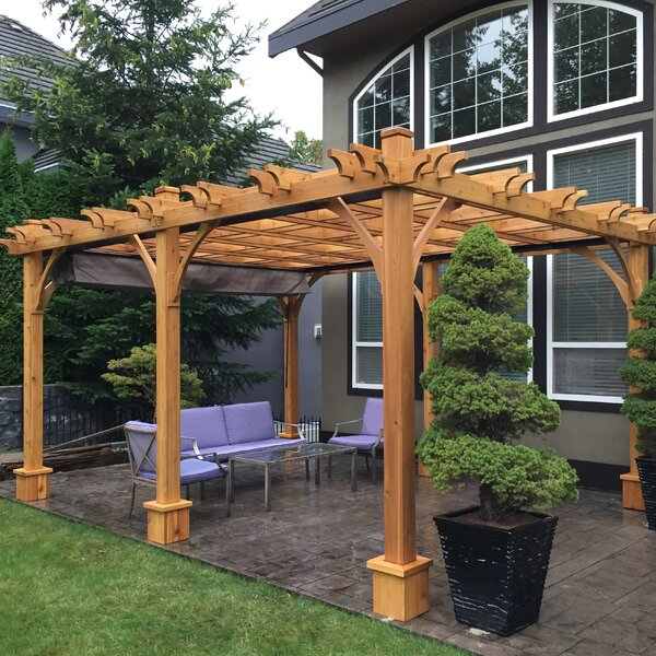 Breeze 16 Ft. W x 12 Ft. D Solid Wood Pergola by O