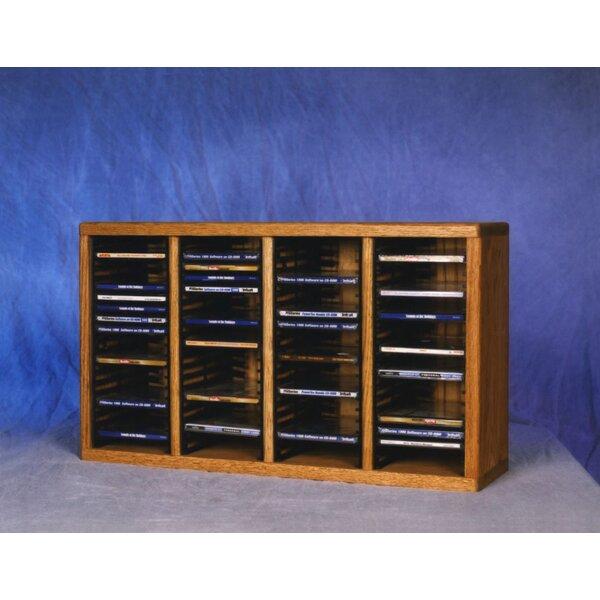 400 Series 80 CD Multimedia Tabletop Storage Rack by Wood Shed