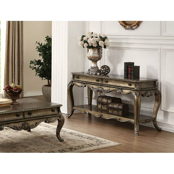 Review Turnbow Wooden Console Table
