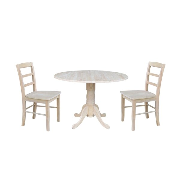 Highsmith 3 Piece Drop Leaf Dining Set by Charlton Home