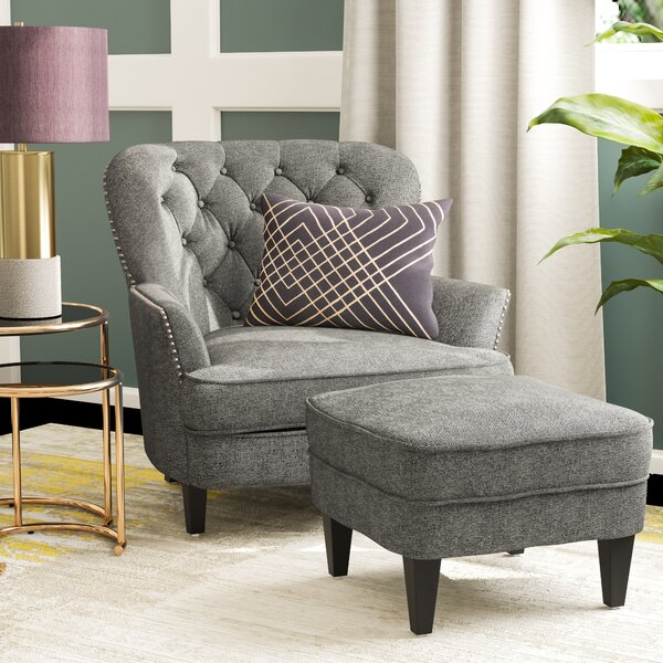 Heywood Armchair and Ottoman by Willa Arlo Interiors