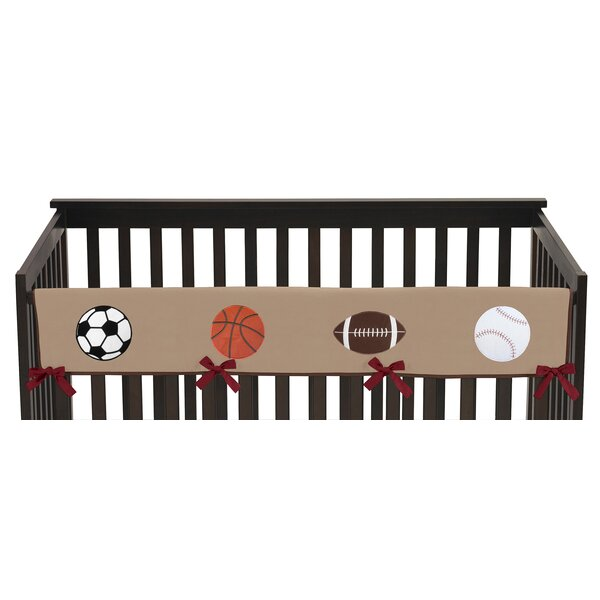 All Star Sports Long Crib Rail Guard Cover by Sweet Jojo Designs