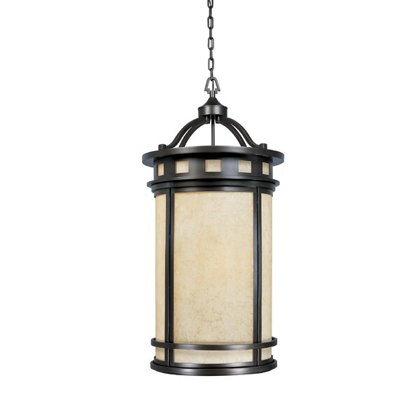 Lisette 3 - Light Lantern Drum Chandelier by Millwood Pines Millwood Pines