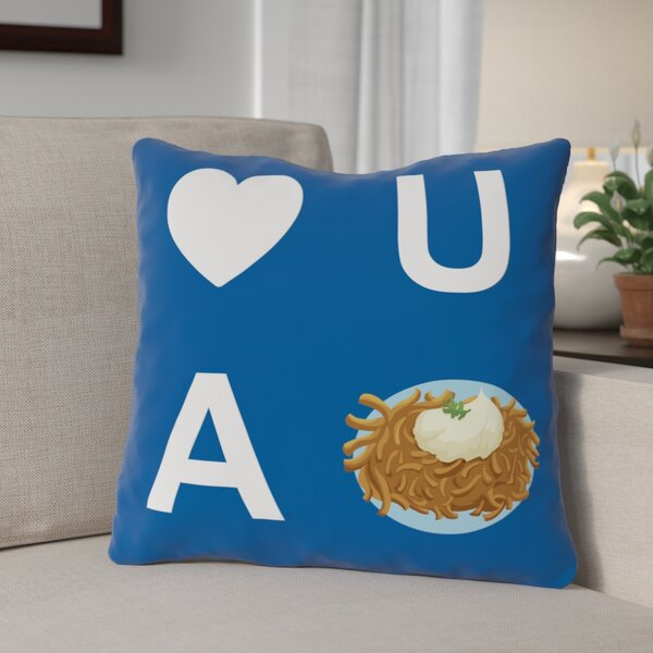 Heart U A Latke Throw Pillow by The Holiday Aisle