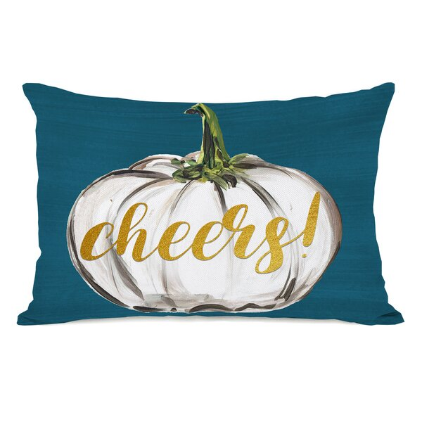 Pruett Cheers Pumpkin Lumbar Pillow by August Grove