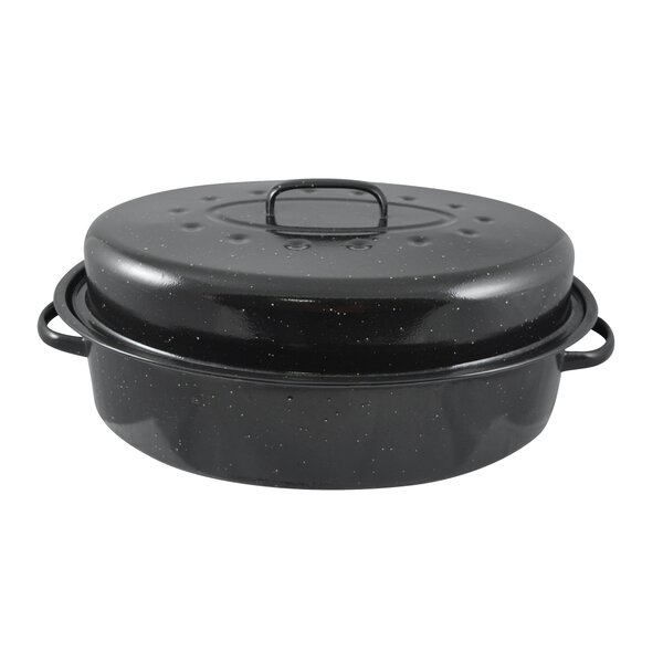 15 Non-Stick Carbon Steel Roaster with Lid by HDS TRADING CORP
