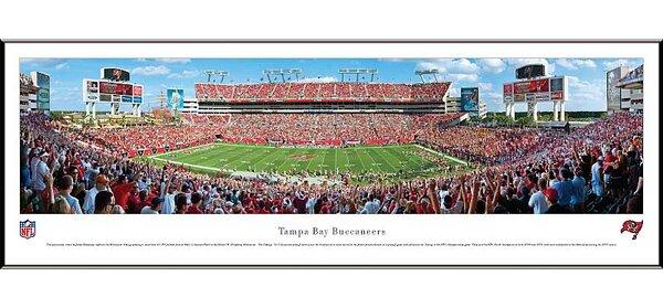 NFL 50 Yard Line Standard Frame Panorama by Blakeway Worldwide Panoramas, Inc