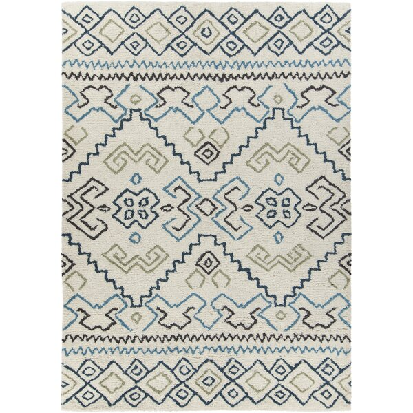 Chartwell Hand-Woven Wool Cream Area Rug by Bungalow Rose