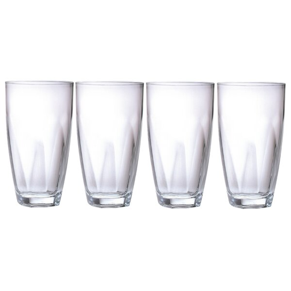 22 oz. Plastic Every Day Glass (Set of 4) by Chenco Inc.