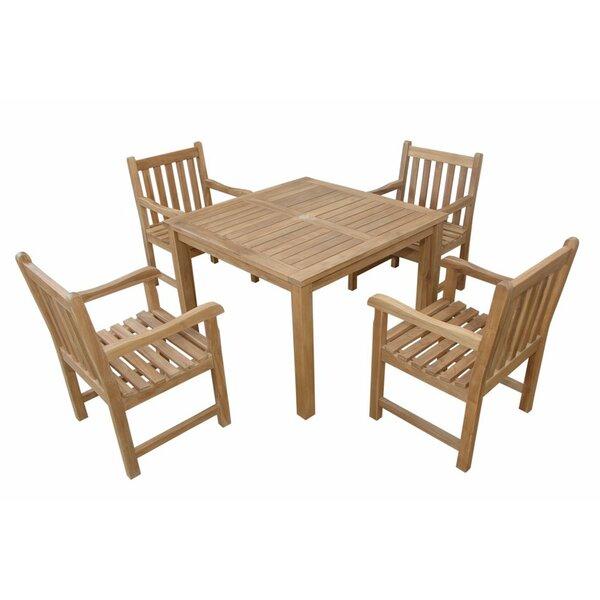 Montage Braxton 5 Piece Teak Dining Set by Anderson Teak