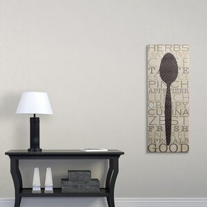 'Kitchen Words III' Textual Art on Wrapped Canvas by Great Big Canvas
