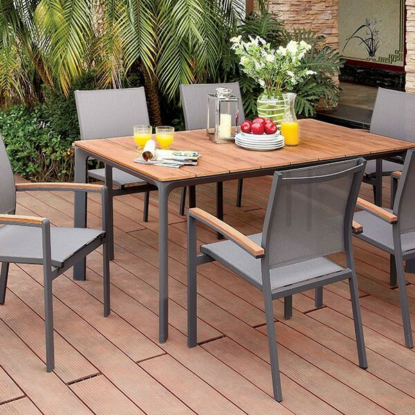 Jocelyn Solid + Manufactured Wood Dining Table by Foundry Select