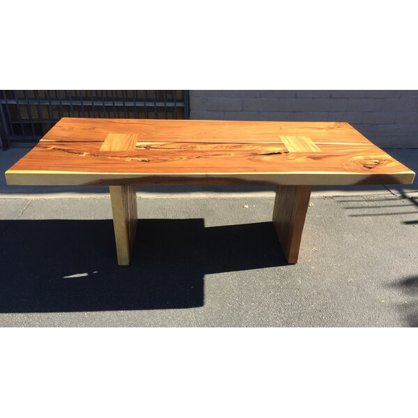 Braaten Double Slab Solid Wood Dining Table by Foundry Select