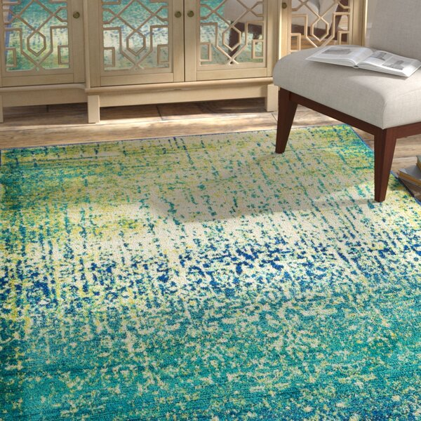 Cedro Blue/Green Area Rug by Bungalow Rose