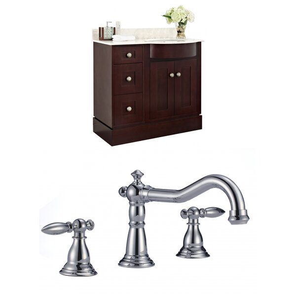 Kester 36 Multi-layer Stain Wood Single Bathroom Vanity Set by Darby Home Co