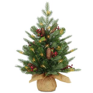 24 green spruce artificial christmas tree with 50 led white lights