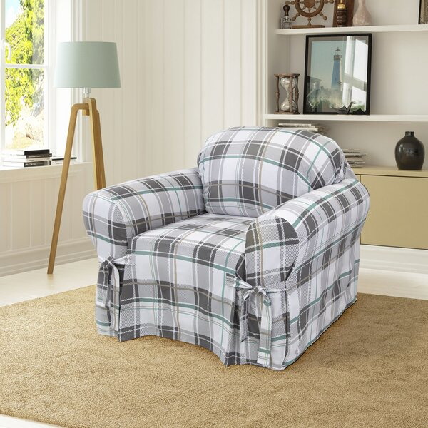 Cotton Duck Box Cushion Armchair Slipcover By Serta