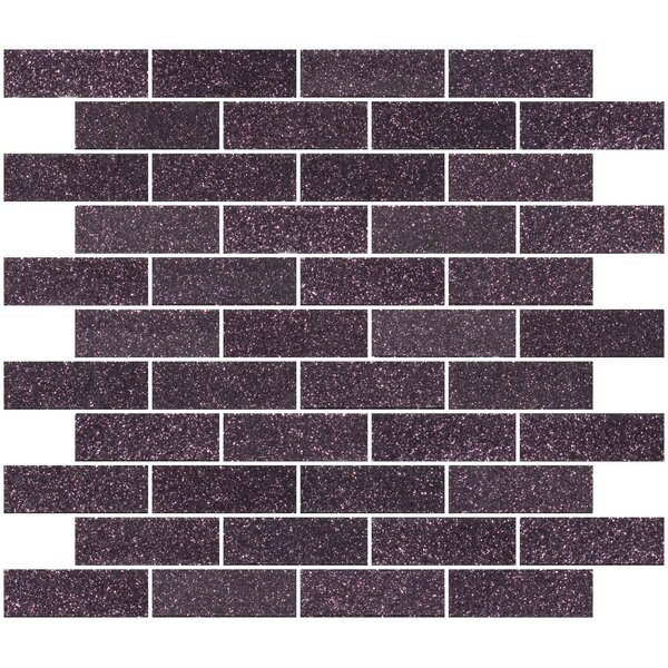 1 x 3 Glass Subway Tile in Purple Plum by Susan Jablon