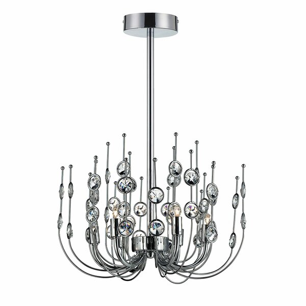 Rhoten 6 - Light Candle Style Classic / Traditional Chandelier with Crystal Accents by Orren Ellis Orren Ellis