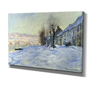 'Sun and Snow' by Claude Monet Painting Print on Wrapped Canvas by Wexford Home