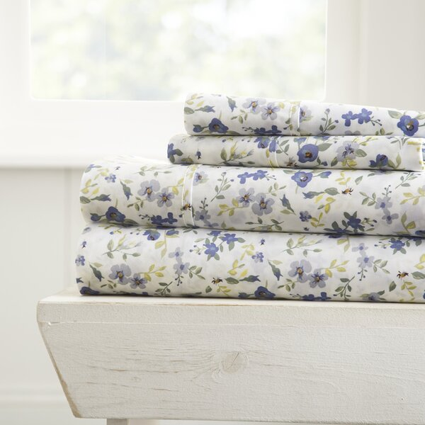 Perley Premium Ultra Soft Blossoms Pattern Sheet Set by Charlton Home