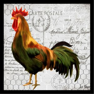 'French Rooster II Poster' by Jill Meyer Framed Graphic Art by Buy Art For Less