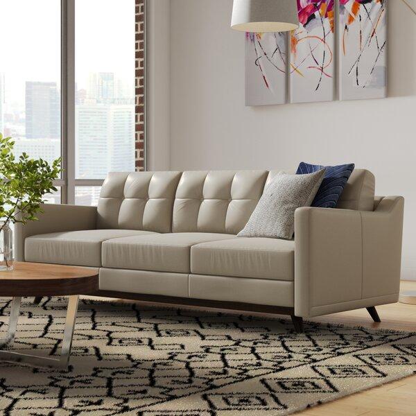 Karlov Leather Sofa By Brayden Studio
