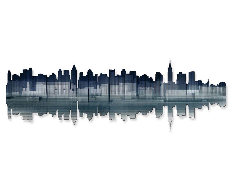 All My Walls New York City Reflection Wall Dcor Reviews Wayfair