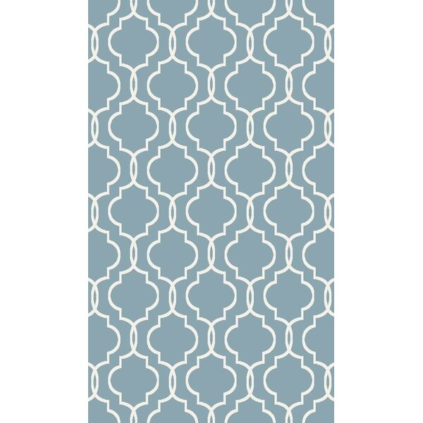Larrabee Decorative Modern Contemporary Southwestern Blue Area Rug by Charlton Home