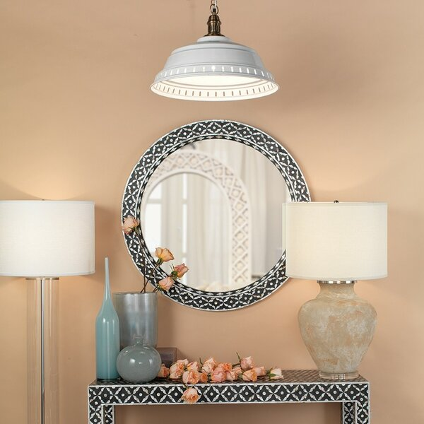 Saver Round Bathroom/Vanity Wall Mirror by Bungalow Rose