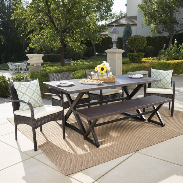 Olcott 6 Piece Dining Set with Cushions by Gracie Oaks