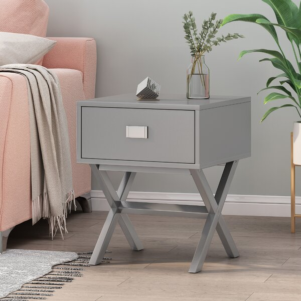 Amy End Table With Storage By Highland Dunes