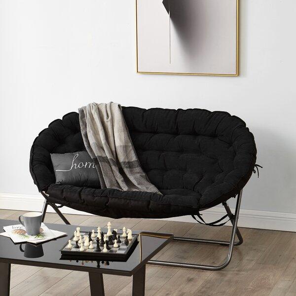 Bly Papasan Dorm Loveseat by Ebern Designs