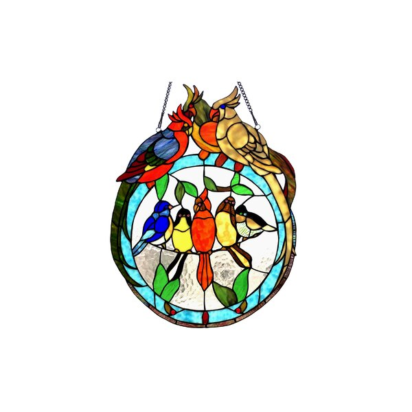 Songbird Tiffany Glass Window Panel by Bay Isle Home