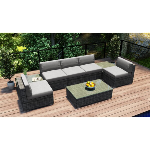 Hobbs 8 Piece Sectional Set with Cushions by Rosecliff Heights