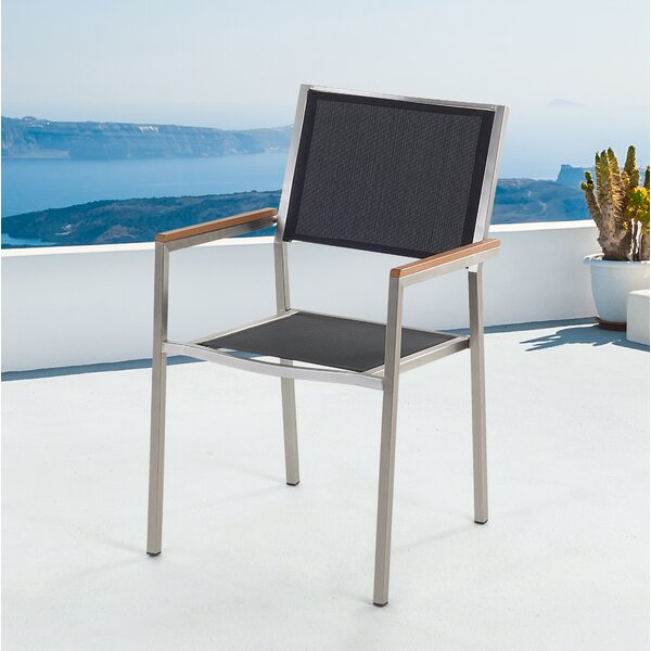 Mikonos Stacking Patio Dining Chair (Set of 6) by Orren Ellis