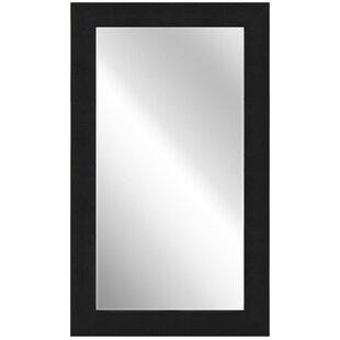Empire Art Direct Metallic Shagreen Leather Framed Beveled Accent Mirror