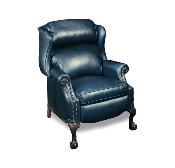 Presidential Reclining Wing Chair (leather 901200-84) by Bradington-Young