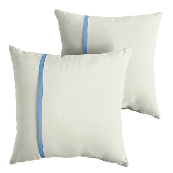Hiller Indoor/Outdoor Sunbrella Throw Pillow (Set of 2) by Highland Dunes