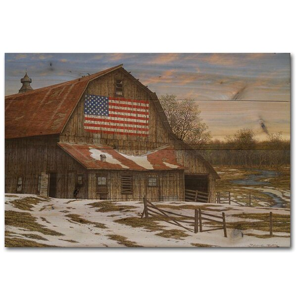 Enduring Legency Barn by Robert Richert Painting Print Plaque by WGI-GALLERY