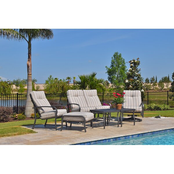 Terrabay 6 Piece Sunbrella Sofa Set with Cushions by Outdoor Masterpiece