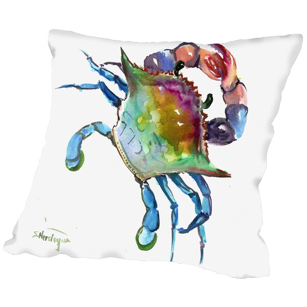 Crab Throw Pillow by East Urban Home