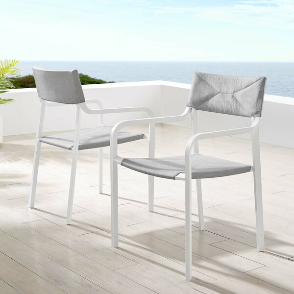 Merlene Stacking Patio Dining Chair with Cushion by Ivy Bronx Ivy Bronx