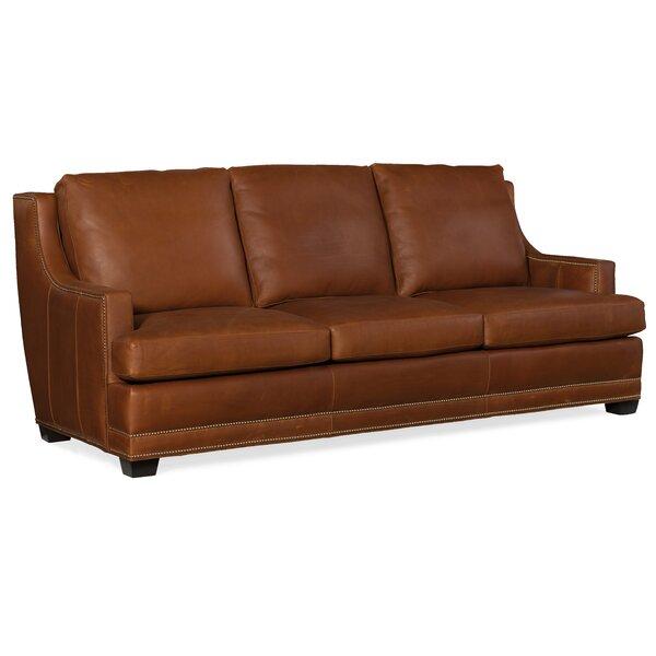 Young  Stationary Leather Sofa by Bradington-Young Bradington-Young